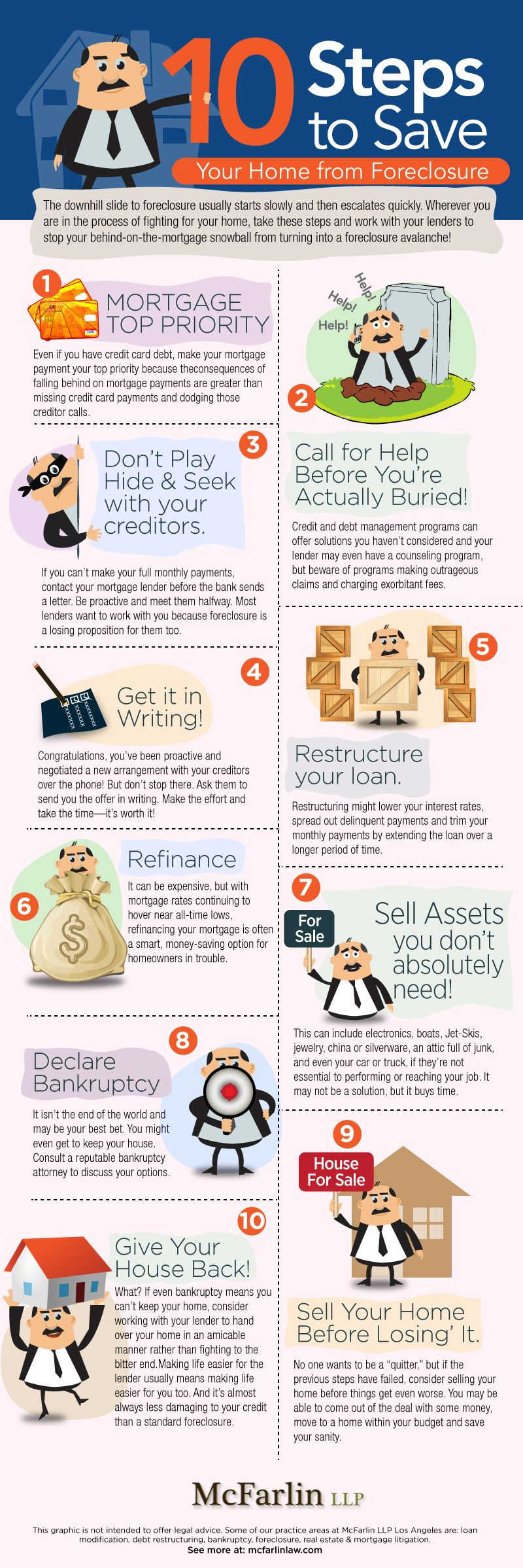 10 Steps to save your home from foreclosure